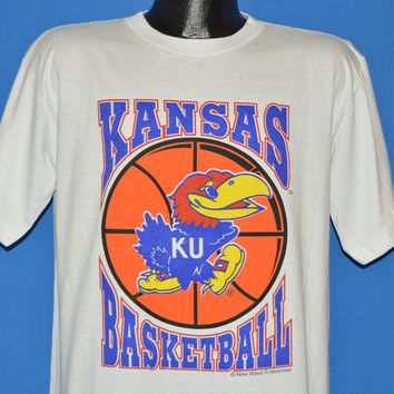 90s Kansas University Jayhawks KU Basketball t-shirt