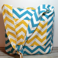 Crossbody Bag - Hobo Bag - Chevron Bag - Over the Shoulder - Summer Bag - Canvas Hobo Bag - Hobo Bag Purse - Hobo Shoulder Bag - Hobo Purse
