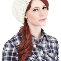 ModCloth Boho Beignet or Nay Hat in Ivory