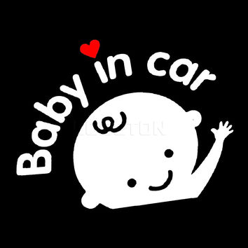 2016 NEW Car Sticker boy with Bow Baby in Car for car Styling Baby on Board car Decoration