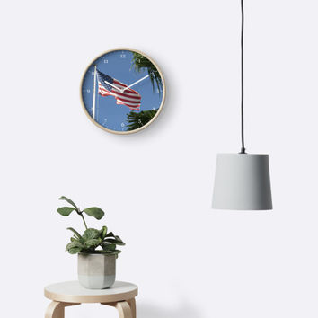 'The Flag' Clock by Zina Stromberg