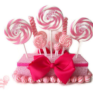 Pink Lollipop Centerpiece, Pink Centerpiece, Candy Centerpiece, Baby Shower Centerpiece, Wedding Centerpiece, Lollipop,, Birthday