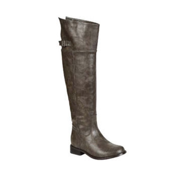 """""""Always My Style"""" Above Knee Grey Tall Riding Boots"""