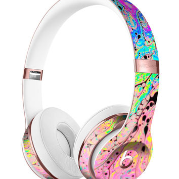 Neon Color Fushion with Black splatters Full-Body Skin Kit for the Beats by Dre Solo 3 Wireless Headphones
