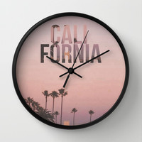 California Love Wall Clock by Pink Berry Pattern