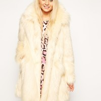 ASOS | ASOS Faux Fur Longline Coat at ASOS