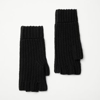 Rag & Bone - Carson Fingerless Mittens, Black Size ONE