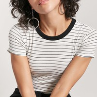 Striped Contrast Tee
