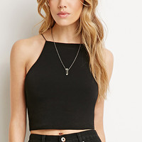 Square-Back Cropped Cami
