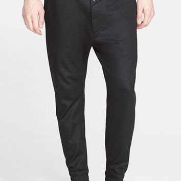 Men's Helmut Lang Coated Cotton Terry Sweatpants