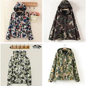 Vans winter coat and jacket tide brand BF camouflage couple charge M5 locomotive