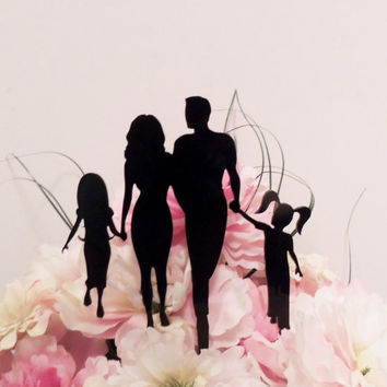 Family full of Girls Cake Topper