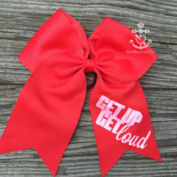 Get Up and Get Loud Cheer Bow