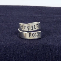 Muggle Born - Harry Potter - Adjustable Aluminum Wrap Ring B