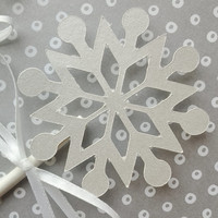 Cupcake toppers, christmas party decor, snowflake decor, frozen party, winter party decor, elegant toppers, winter wedding