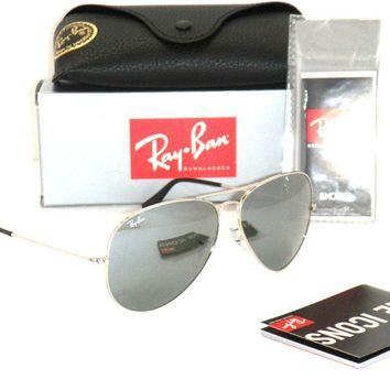 Ray Ban 3025 Aviator RB 3025 003/40 62mm Silver Frame / Full Silver Mirror Large