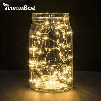 20 Leds Christmas Lights Indoor 2M String LED Copper Wire Fairy Lights for Festival Wedding Party Home Decoration Lamp