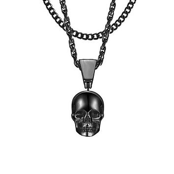 Skull Necklace - Black