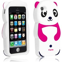CY 3D Cartoon Cute Animal Design Silicone Skin Cover Case For iPhone Lite 5C (include a Free CYstore Stylus Pen) - Panda Pink