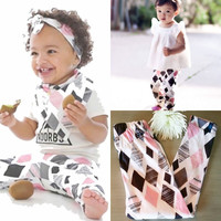 2016 Infant Pants 0-3Yrs Baby Boys Girls Geometric Pants Fashion New Baby Clothing Pantalones Autumn Spring Cotton Pant