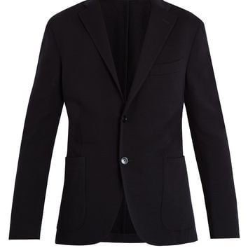 Single-breasted notch-lapel wool-jersey blazer | Boglioli | MATCHESFASHION.COM UK