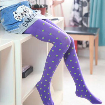 Candy Color Tights for Girls