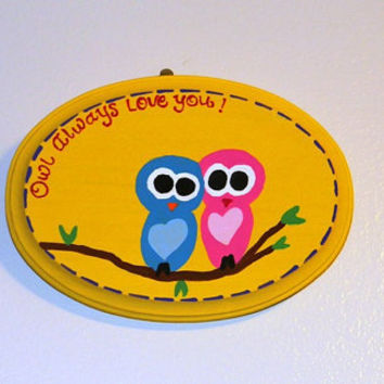 Nursery Art Children's Room Decor (Owls) READY TO SHIP
