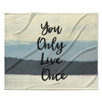 "Debbra Obertanec ""YOLO"" Typograghy Pastel Fleece Throw Blanket"