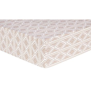 Deer Lodge Aztec Fitted Crib Sheet