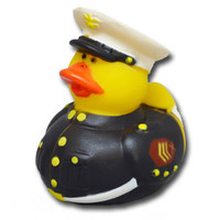 USMC Dress Blues Rubber Duck Squeaky Toy, Marine Corps Rubber Ducky Bath Toy