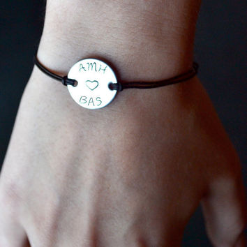 Personalized bracelet - Custom bracelet - His and Hers bracelet - Unisex bracelets - Best Friends bracelet