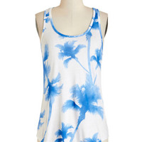 ModCloth Mid-length Tank top (2 thick straps) Palm Before the Warm Top