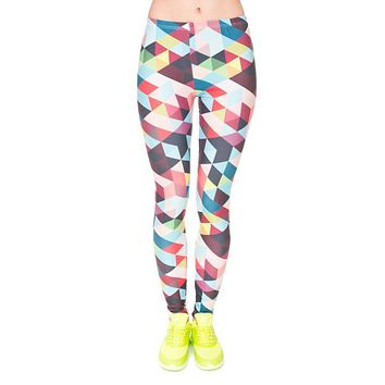 "Women""s Multicolor Print Leggings/Yoga Pants"