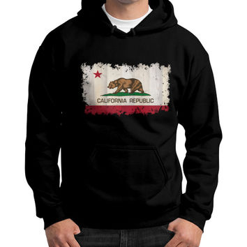 California Republic Gildan Hoodie (on man)