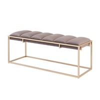Brooklyn Velvet Fabric Bench Serene Dark Gray