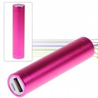 Cheap 2600mAh Aluminum Alloy Tube Cylindrical Mobile Power for iPhone, iPod, Digital Devices, etc Rose (ROSE MADDER) | Everbuying Mobile