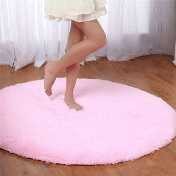 ca DCCKTM4 S&V Super soft round carpets chair cushion Yoga mats Area Rugs for bedroom and living room christmas decoration [8295300551]