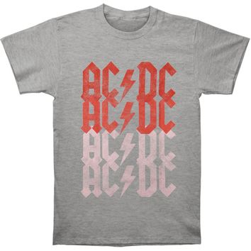 AC/DC Men's  Fade T-shirt Grey
