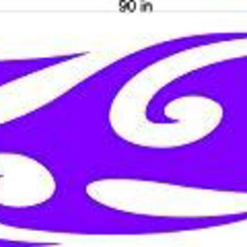 Auto Truck Car Boat Side Flames Tribal Decal Sticker  TF037