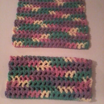 Crochet Dish Cloths Easter Spring