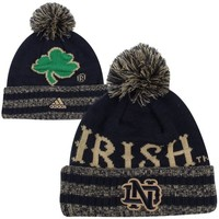 adidas Notre Dame Fighting Irish Cuffed Knit Hat - Navy Blue