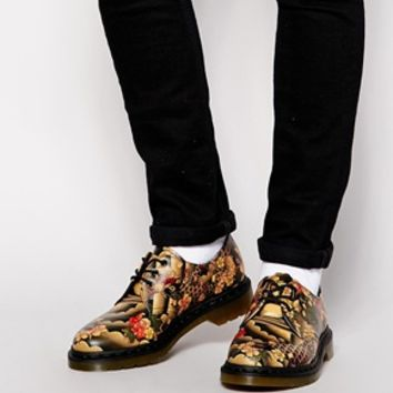 Dr Martens 3-Eye Tattoo Print Shoes