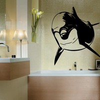 WALL STICKER DECALS ART MURAL ANIMAL DOLPHIN T246