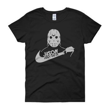 Jason Voorhees Just Do It Nike Parody Women'S T Shirt