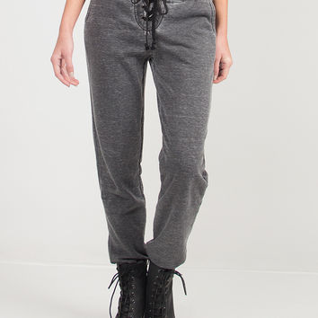 Laced Up Comfy Joggers - Large