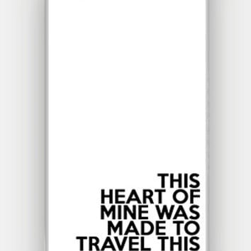 This Heart Of Mine Was Made To Travel The World - Wanderlust - Travel - Full printed case for iPhone - CMB-347