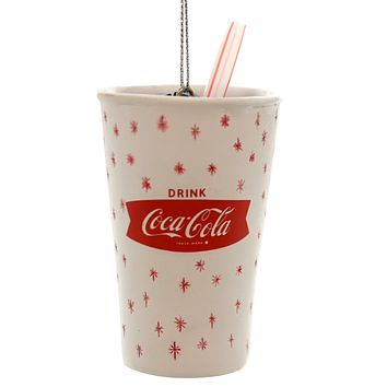 Holiday Ornaments Coca-Cola Retro Cup Resin Ornament