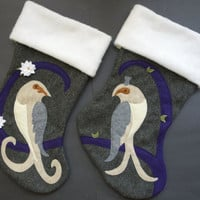 His and Hers Christmas Stockings Set of Two Turtle Doves