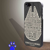 Star Wars HAn Solo quotes for iphone 4/4s/5/5s/5c/6/6+, Samsung S3/S4/S5/S6, iPad 2/3/4/Air/Mini, iPod 4/5, Samsung Note 3/4 Case *NP*