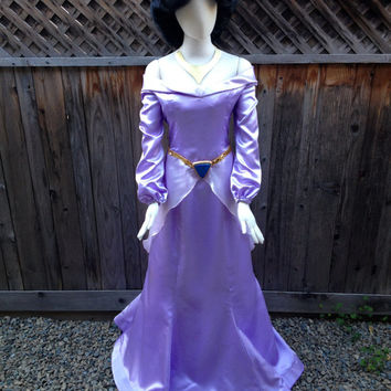 Jasmine Purple Dress Costume - Adult Size with Headband and Belt Pieces